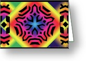 Chromatic Greeting Cards - Ancestral Star Greeting Card by Eric Edelman