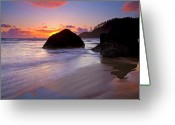Oregon Greeting Cards - Anchoring the Beach Greeting Card by Mike  Dawson