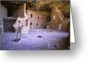 Pre Columbian Antiquities And Artifacts Greeting Cards - Ancient Anasazi Dwelling In Mesa Verde Greeting Card by Greg Dale