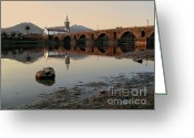 Warm Greeting Cards - Ancient Bridge Greeting Card by Carlos Caetano