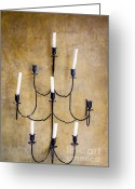 Twinkle Greeting Cards - Ancient candelabra Greeting Card by Chavalit Kamolthamanon