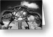 Armillary Greeting Cards - Ancient Chinese Astronomical Instrument Greeting Card by Yali Shi
