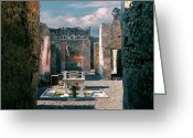 Antique Pyrography Greeting Cards - Ancient city of Pompeii Greeting Card by Jan Vidra