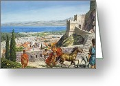 Crossroads Greeting Cards - Ancient Corinth Greeting Card by Roger Payne
