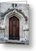 Straps Greeting Cards - Ancient Door Greeting Card by Douglas Barnett