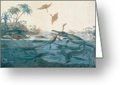 Pool Greeting Cards - Ancient Dorset Greeting Card by Henry Thomas De La Beche