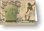 Featured Greeting Cards - Ancient Egypt, Bird Hunting Greeting Card by Science Source