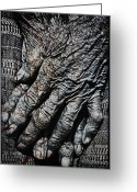 Senior Greeting Cards - Ancient Hands Greeting Card by Skip Nall
