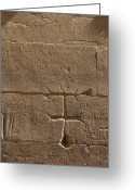 Art Of Building Greeting Cards - Ancient Hieroglyphics Greeting Card by Adam Crowley