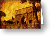 Ancient Prints Greeting Cards - Ancient Rome Greeting Card by Stefano Senise