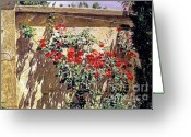 Rose Bushes Greeting Cards - Ancient Roses Greeting Card by David Lloyd Glover