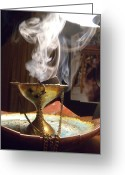 Coal Burner Greeting Cards - Ancient Scents Greeting Card by Crespo