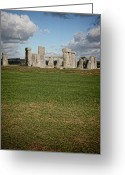 Burials Greeting Cards - Ancient Stones Greeting Card by Heather Applegate