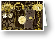 Ancient Aliens Greeting Cards - Ancients -duotone Greeting Card by Doug  Duffey