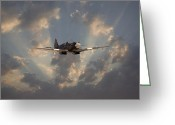 Raf Digital Art Greeting Cards - And Comes Safe Home Greeting Card by Pat Speirs