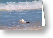 Tern Greeting Cards - And he splash and splash Greeting Card by E Luiza Picciano