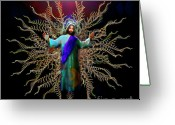 Christ Greeting Cards - And On The Third Day... Greeting Card by Michael Durst
