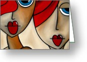 Picasso Greeting Cards - And She Was Greeting Card by Tom Fedro - Fidostudio