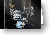 Drum Greeting Cards - And The Beat Goes On.... Greeting Card by Holly Kempe