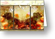 Ym_art Greeting Cards - And The Birds Are Leaving  Greeting Card by Yvon -aka- Yanieck  Mariani
