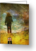 Puddle Photo Greeting Cards - And Then He Turned Her World Upside Down Greeting Card by Tara Turner