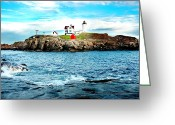 York Maine Greeting Cards - And Yet Another Greeting Card by Greg Fortier