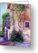 Floral Pastels Greeting Cards - Andalucian Garden Greeting Card by Candy Mayer