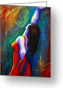 Dancer Greeting Cards - Andalulcia Greeting Card by Claudia Fuenzalida Johns