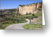 Escarpment Greeting Cards - Andalusia Countryside Greeting Card by Artur Bogacki