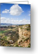 Cumulus Cloud Greeting Cards - Andalusia Landscape in Spain Greeting Card by Artur Bogacki