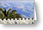 Palm Leaf Greeting Cards - Andalusian view Greeting Card by Heiko Koehrer-Wagner