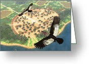 Amazon Greeting Cards - Andean Condors, Artwork Greeting Card by Walter Myers