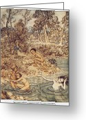 Rackham Greeting Cards - Andersen: Little Mermaid Greeting Card by Granger