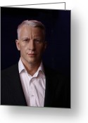 Superstar Photo Greeting Cards - Anderson Hays Cooper - CNN - Anchor - News Greeting Card by Lee Dos Santos