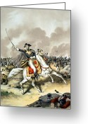 Founding Fathers Painting Greeting Cards - Andrew Jackson At The Battle Of New Orleans Greeting Card by War Is Hell Store