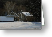 Mill Stone Greeting Cards - Andrew Wyeth Estate in Winter Greeting Card by Gordon Beck