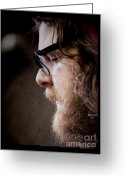 Manchester Greeting Cards - Andy Hull of Manchester Orchestra Greeting Card by Dustin K Ryan