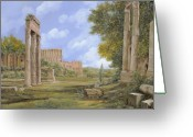 Roman Greeting Cards - Anfiteatro Romano Greeting Card by Guido Borelli