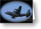 C130 Greeting Cards - Ang Greeting Card by Rick  Monyahan