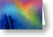 Spiritual Pastels Greeting Cards - Angel Afternoon Greeting Card by Angela Treat Lyon