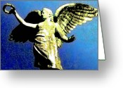 Heaven Digital Art Greeting Cards - Angel Greeting Card by Bill Cannon