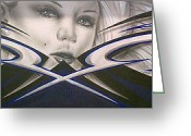 Beauty Mark Greeting Cards - Angel Eyes Greeting Card by Mike Royal