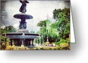 Picoftheday Greeting Cards - Angel Fountain. #centralpark #nyc Greeting Card by Luke Kingma