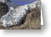 Edith Greeting Cards - Angel Glacier Greeting Card by Teresa Zieba