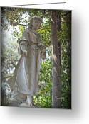 Guardian Angel Greeting Cards - Angel III Greeting Card by Suzanne Gaff