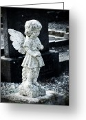 Angel Statue Greeting Cards - Angel in Roscommon No 3 Greeting Card by Teresa Mucha