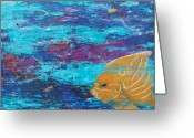 Sea Life Pastels Greeting Cards - Angel Greeting Card by Kristen Ashton