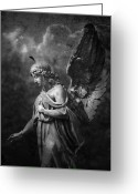 Graveyard Digital Art Greeting Cards - Angel Greeting Card by Marc Huebner