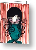 Eyes.fantasy Greeting Cards - Angel Mermaid Greeting Card by  Abril Andrade Griffith