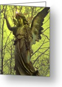 Seraphim Angel Greeting Cards - Angel of Bless No. 01 Greeting Card by Ramon Labusch